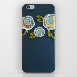 Floral Embroidery by SeptemberHouse iPhone Skin