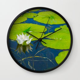 Water Lily and Lily Pads Wall Clock
