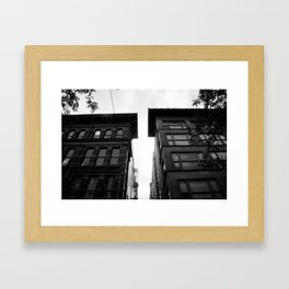 City Alleys Framed Art Print
