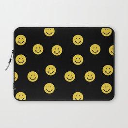 Happy Face - smiley, smiles, happy, emoji, cute, 90s, happy face Laptop Sleeve