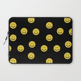 Happy Face - smiley, smiles, happy, emoji, cute, 90s, happy face Laptop Sleeve