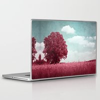 moulin rouge Laptop & iPad Skins featuring ARBRE ROUGE by INA FineArt