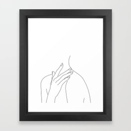 Female body line drawing - Danna Framed Art Print