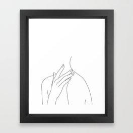Female body line drawing - Danna Framed Art Print