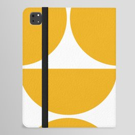 Mid Century Modern Yellow Square iPad Folio Case