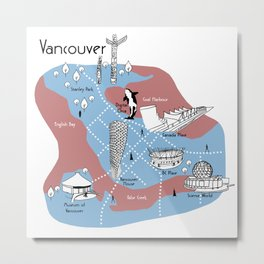 Mapping Vancouver - Original Metal Print