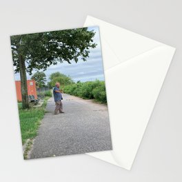NYC Morning Exercise Photograph Stationery Cards