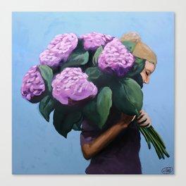 Posy IV / Summer Blooms Canvas Print