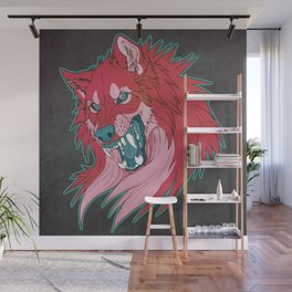 Ravewolf -Teal and Berry Wall Mural