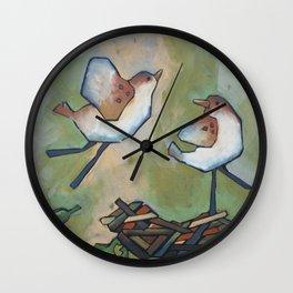 fly, birdie, fly Wall Clock