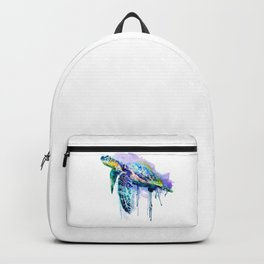 Watercolor Sea Turtle Backpack