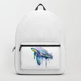 Watercolor Sea Turtle Backpack