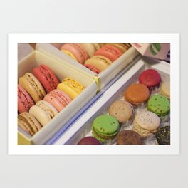 Macarons galore Art Print