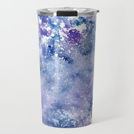 Blue and purple frost watercolor texture Travel Mug