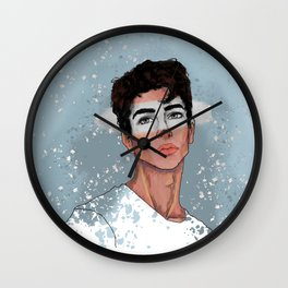Manu Rios B&W Wall Clock