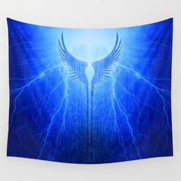 Vikings Valkyrie Wings of Protection Storm Wall Tapestry