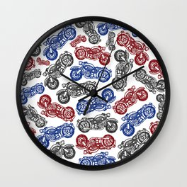 Motorbike Mayhem Wall Clock