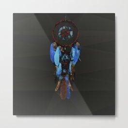 Dreamcatcher - Low Poly Metal Print
