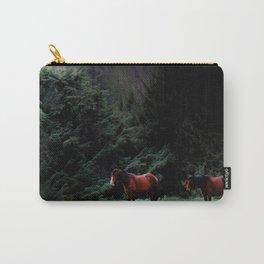Enniskerry Horses Irish Ireland Romantic Horse Print Carry-All Pouch