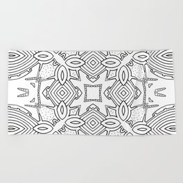 outback lines Beach Towel