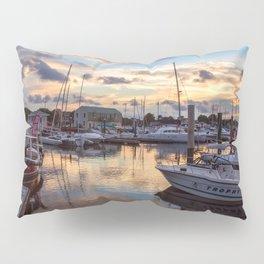 Portsmouth Marina at Sunset Pillow Sham
