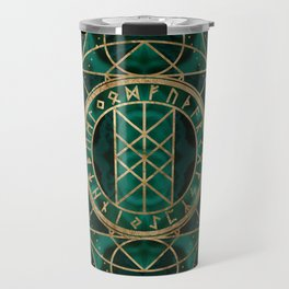 Web of Wyrd The Matrix of Fate - Gold and Malachite Travel Mug