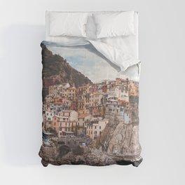 Cinque Terre, five lands, Manarola, Liguria, italian landscape, Italy love, UNESCO site, cliff village, sea villages Comforters