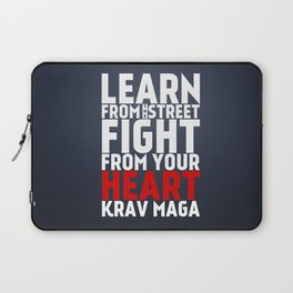Learn from the Street Krav Maga Laptop Sleeve
