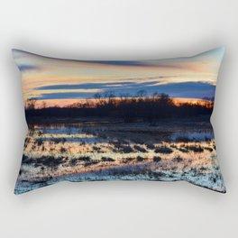 Contrasting Pastel Sunset Rectangular Pillow