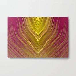 stripes wave pattern 3 ee Metal Print