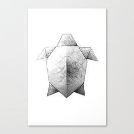 Turtle Origami Canvas Print