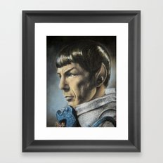 Spock - The Pain of Loss (Star Trek TOS) Framed Art Print