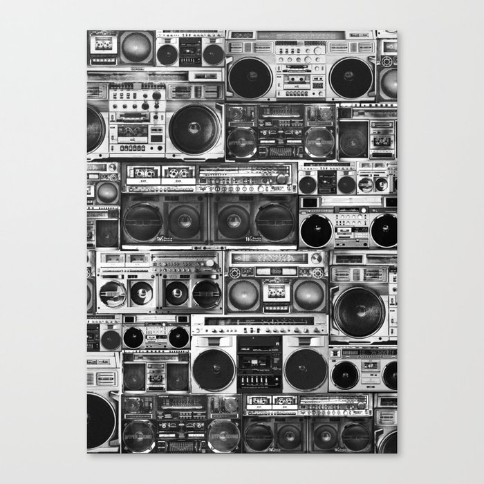 house of boombox Canvas Print