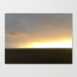 Sunset over Strait of Georgia Canvas Print