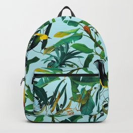 Fruit and Birds Pattern Backpack