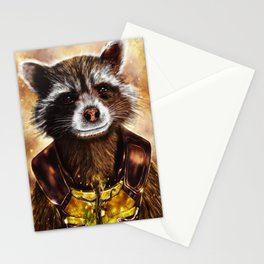 Rocket Raccoon and baby Groot from Guardians of the Galaxy Stationery Cards