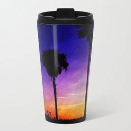 Purple Sunset Metal Travel Mug