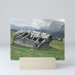shack in the Austrian mountains Mini Art Print