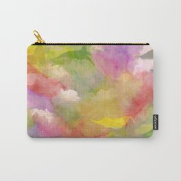 Rainbow Watercolor Floral Abstract Carry-All Pouch
