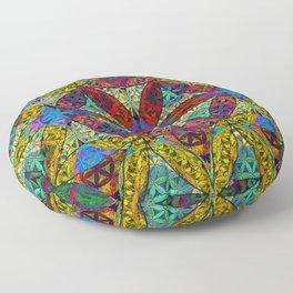 The Flower of Life (Sacred Geometry) Floor Pillow
