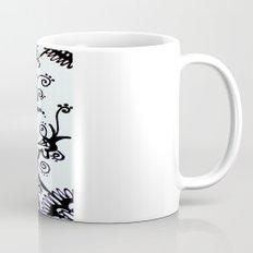 Forget Me Not Black & White  Mug