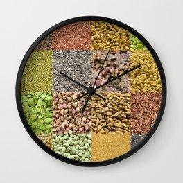 Healthy food I Wall Clock