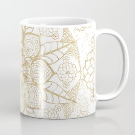 Stylish boho hand drawn golden mandala Coffee Mug
