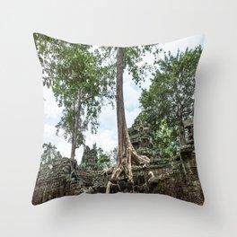 Ta Phrom, Angkor Archaeological Park, Siem Reap, Cambodia Throw Pillow