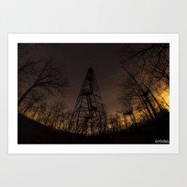 Ninham Fire tower Art Print