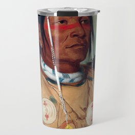 Sha-có-pay, The Six, Chief of the Plains Ojibwa by George Catlin Travel Mug