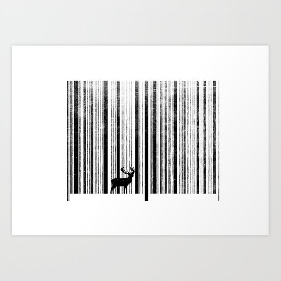 To scan a forest. Art Print