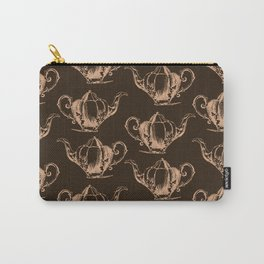 Vintage Teapot Pattern II Carry-All Pouch