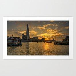 Sunset Shard  Art Print