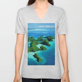 Palau Island Paradise Unisex V-Neck